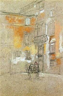 James Abbot McNeill Whistler. Venetian Courtyard: Corte Bollani