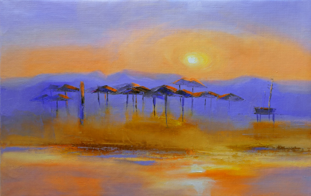 Tatiana. Sunset in Africa
