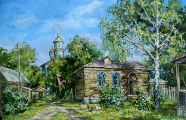 Victor Vladimirovich Kuryanov. Quiet street. Noon