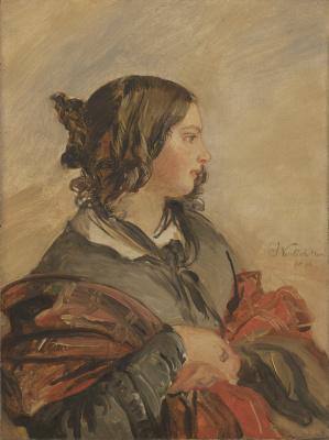 Franz Xaver Winterhalter. A portrait of the young Queen Victoria