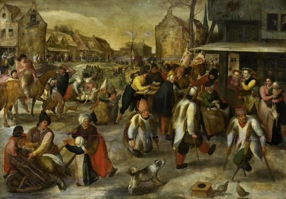 Martin van Cleve. Carnival in the village