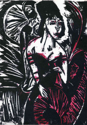 Ernst Ludwig Kirchner. Seated dancer