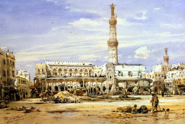 Эдуард Хильдебрандт. Большая мечеть в Александрии