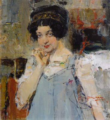 Portrait of the wife of the architect Sidorchenko
