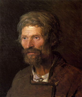 Ivan Nikolayevich Kramskoy. Head of an old Ukrainian peasant