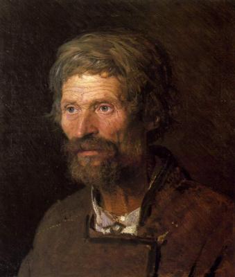 Ivan Nikolayevich Kramskoy. Head of an old Ukrainian peasant