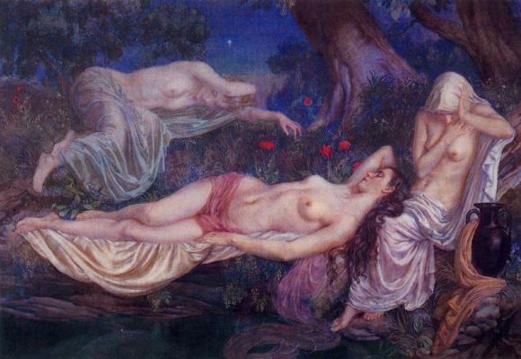 George Owen Wynne Upperley. Dream of the nymphs. Summer night