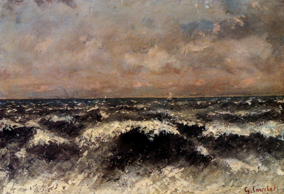 Gustave Courbet. Sea view