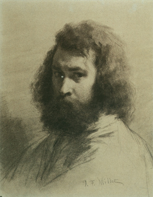 Jean-François Millet. Self-portrait
