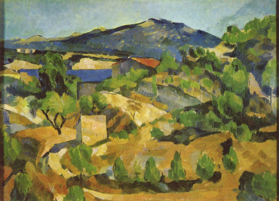 Paul Cezanne. Mountains in the French Provence