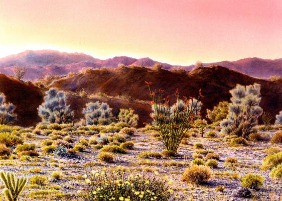 Иосиф Саламон. Пустынный рассвет