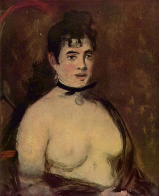 Edouard Manet. Brunette with bare Breasts