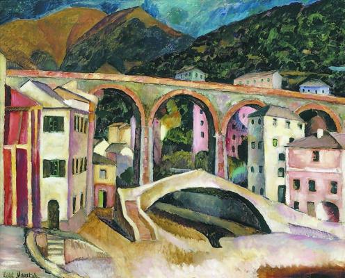 Ilya Ivanovich Mashkov. Italy. Nerves Landscape with aqueduct