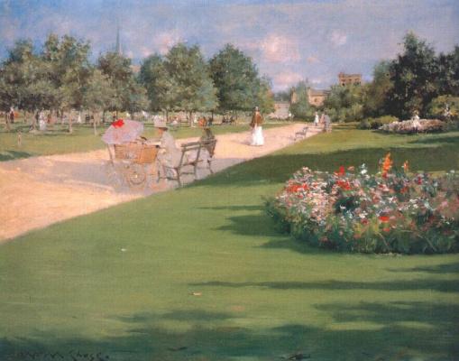 William Merritt Chase. Tompkins Park, Brooklyn