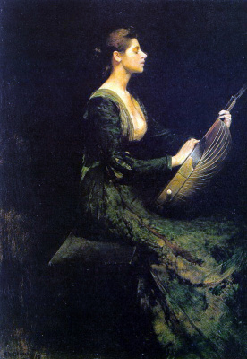 Thomas Wilmer Dewing. Musical ear