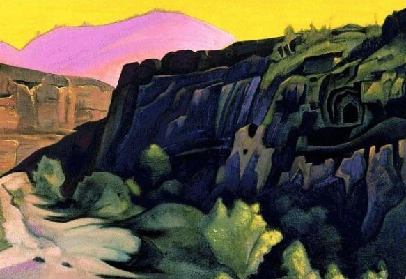 Nicholas Roerich. Ajanta. Rock temples