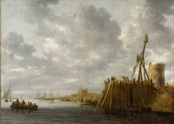 Jan van Goyen. Harbour views from the watch tower and lighthouse