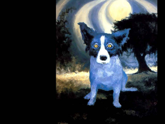 George Rodrigue. Blue собака006