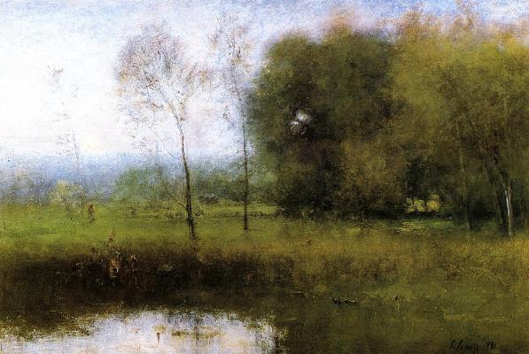 George Innes. Summer Montclair new Jersey landscape
