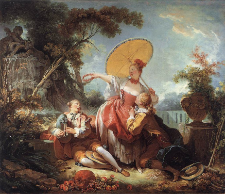 Jean Honore Fragonard. A musical contest