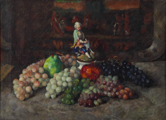 Ilya Ivanovich Mashkov. Grapes with a figurine