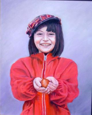 "Alexander Fedorovich Vazhnev. ""CHRIST IS RISEN"". Portrait of Julia Usyk (Greek)."