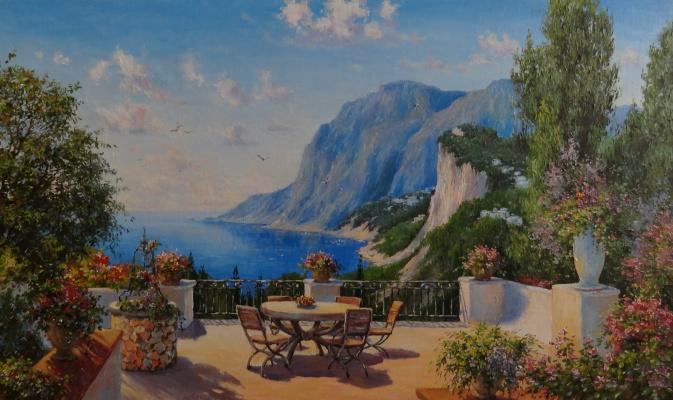 Irina Nikolaevna Borisova. View from the veranda.