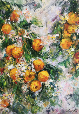 Диана Владимировна Маливани. Bloomy Mandarin Tree