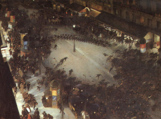 Андре Девамб. Вечерняя улица