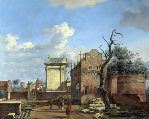 Ян ван дер Хейден. Архитектурная фантазия