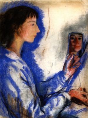 Zinaida Serebryakova. Self-portrait with mirror