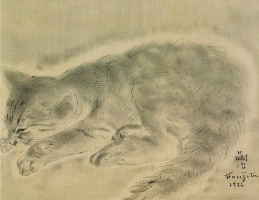 Zuguharu Fujita (Léonard Fujita). Kitty