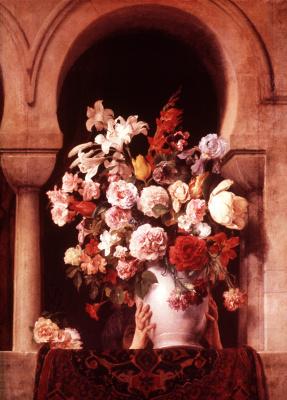 Франческо Айец. Ваза с цветами на окне гарема