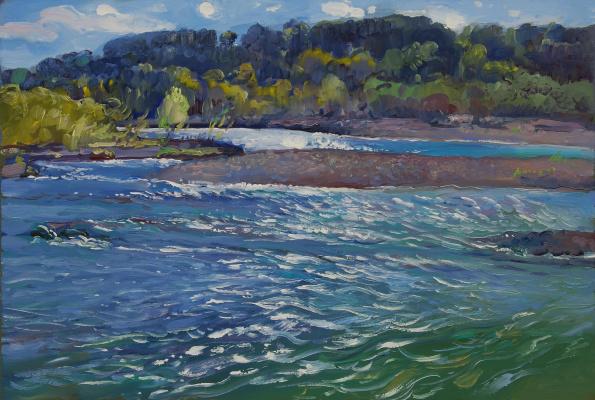 Ljubov Belych. Mountain river