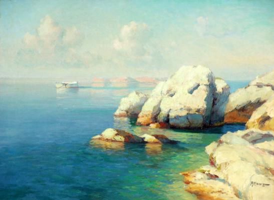 Alexey Vasilyevich Ganzen. Paysage marin. Crique