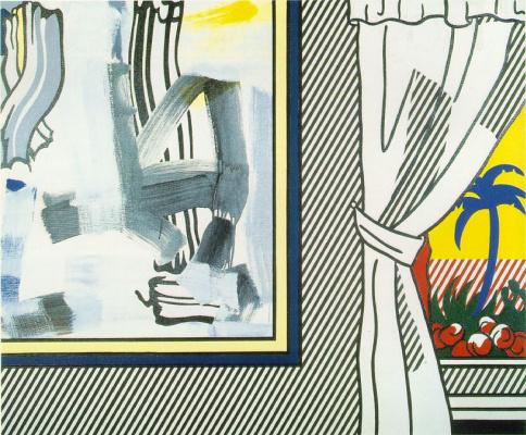 Рой Лихтенштейн. Картина у окна
