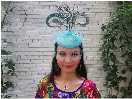 "Natalia Vladimirovna Solntseva. Hat for racing ""Ours to you with a brush"""
