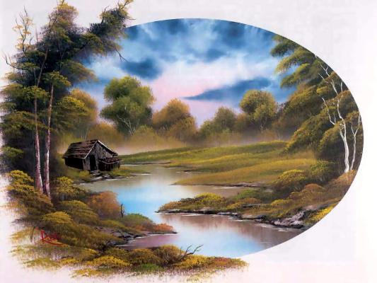 Bob Ross. Lake