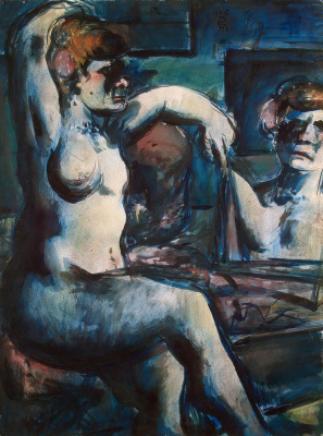 Georges Rouault. Nude with raised arm