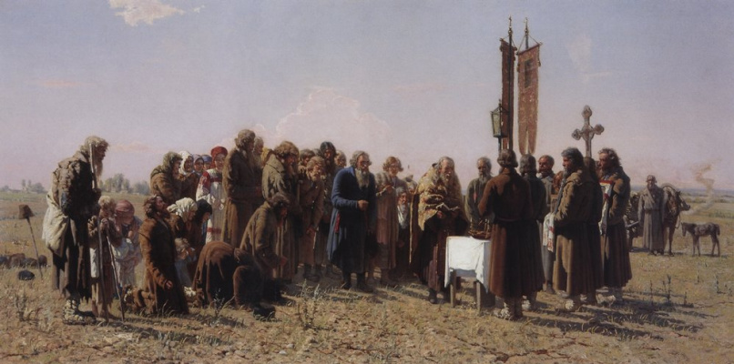 Grigory Grigorievich Myasoedov. Prayer during the drought