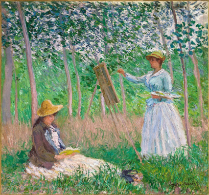 Claude Monet. In the woods at Giverny