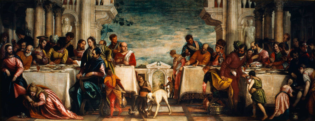 Paolo Veronese. Christ is at dinner at the house of Simon the Pharisee