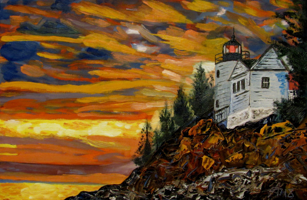 Artashes Badalyan. Lighthouse - xm - 30x45