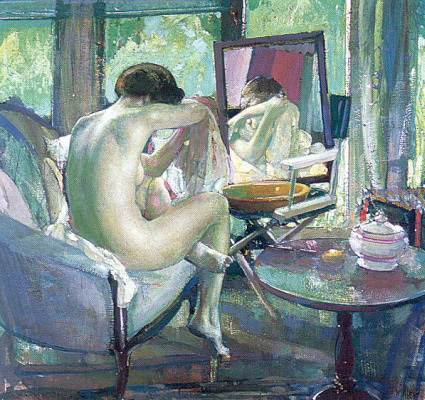 Richard Emil Miller. The reflection of a naked woman in the mirror