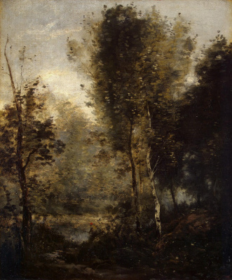 Camille Corot. Pond in the forest more often