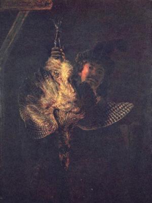 Рембрандт Ван Рейн. Автопортрет с мертвой выпью