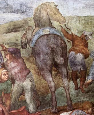 Michelangelo Buonarroti. The conversion of Saul (detail)