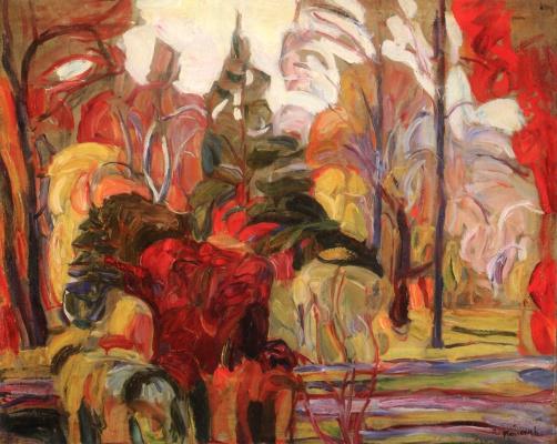 Abram Anshelevich Manevich. Autumn scene