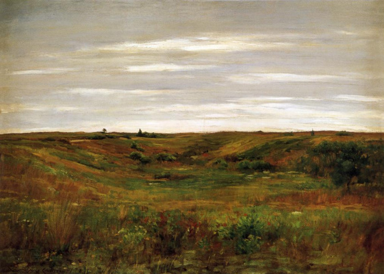 William Merritt Chase. The landscape of the valley of Shinnecock