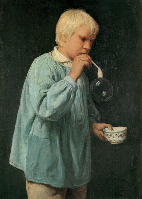 Альберт Анкер. Мыльный пузырь